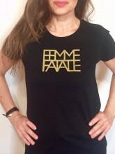 Dámské triko FEMME FATALE černé