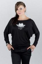 Dámské triko VE SMÍRU s dlouhými rukávy černé